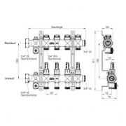 Grindinio šildymo kolektorius xnet Komfort su debitomačiais 8 žiedų
