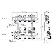 Grindinio šildymo kolektorius xnet Standard be debitomačių 2 žiedų