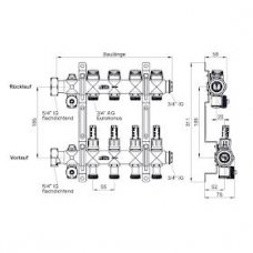 Grindinio šildymo kolektorius xnet Standard be debitomačių 8 žiedų